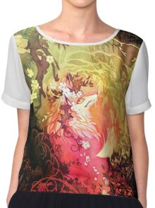 Dawnsing Wood Fox in Watercolor Chiffon Top
