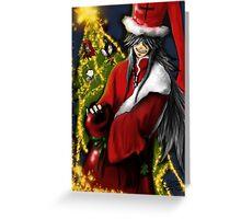 Black Butler - Christmas tree Greeting Card