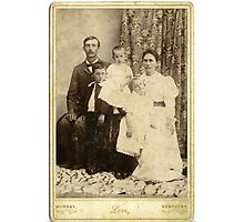 Sid, Mary, Charlie, Zue, Elon Armstrong, Calloway County, Kentucky Photographic Print