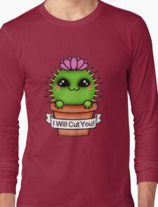 Cute I'll Cut You Cactus Long Sleeve T-Shirt