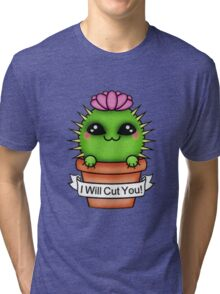 Cute I'll Cut You Cactus Tri-blend T-Shirt