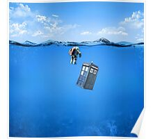 Tardis In The Water Poster