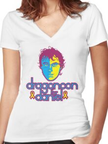Dragon Con for Daniel Women's Fitted V-Neck T-Shirt