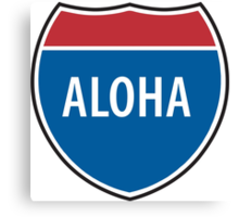 Interstate Aloha Canvas Print