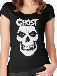 Crimson Ghost B.C Skull Women's Fitted Scoop T-Shirt