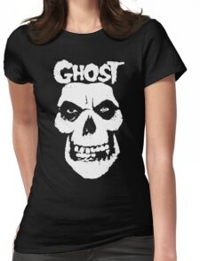 Crimson Ghost B.C Skull Womens Fitted T-Shirt