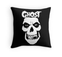 Crimson Ghost B.C Skull Throw Pillow