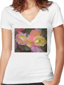 Rose 380 Women's Fitted V-Neck T-Shirt