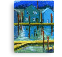 Floating Houses Canvas Print