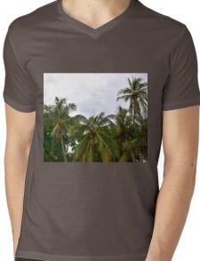 Palm Trees in the Sky Mens V-Neck T-Shirt