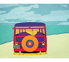 Woody at the Beach 1 Photographic Print