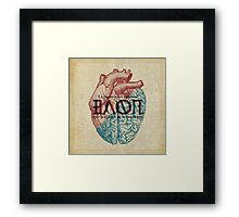 Love is...heart and reason Framed Print