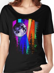Northern Lights Moon Women's Relaxed Fit T-Shirt