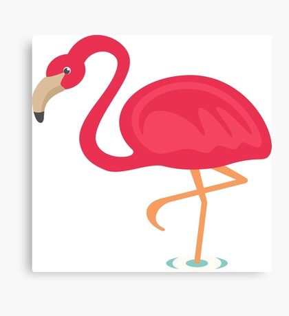 Cute Flamingo Canvas Print