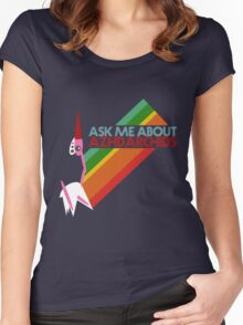 Ask Me About Azhdarchids (dark version) Women's Fitted Scoop T-Shirt