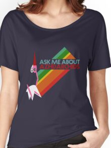 Ask Me About Azhdarchids (dark version) Women's Relaxed Fit T-Shirt