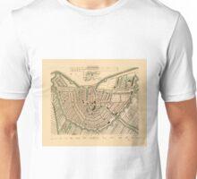 Map Of Amsterdam 1850 Unisex T-Shirt