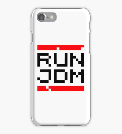 RUN JDM (1) iPhone Case/Skin