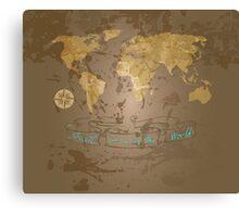 Travel Around the World Canvas Print