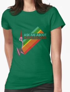 Ask Me About Azhdarchids (light version) Womens Fitted T-Shirt