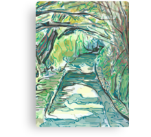 Tree Canopy Over A Country Lane Canvas Print