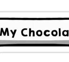 I love My Chocolate Lab Sticker