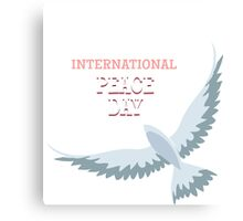 International Peace Day Emblem Canvas Print