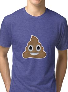 Poopmoji Tri-blend T-Shirt
