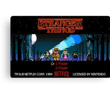 Stranger Things - Game Canvas Print