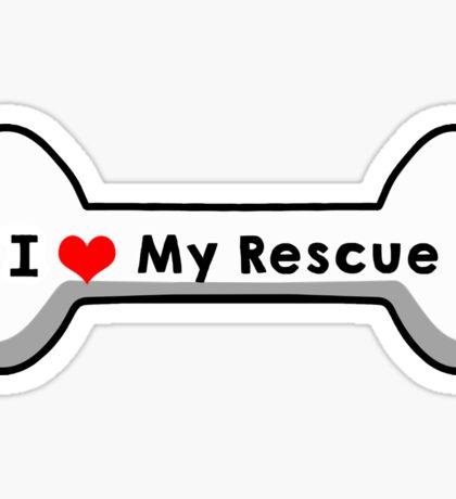 I love My Rescue Sticker