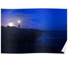 Portland Bill Lighthouse at dusk Poster