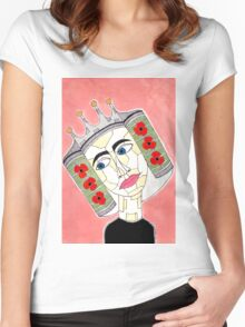 14th Century English Crespine Women's Fitted Scoop T-Shirt
