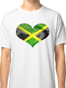 Jamaica Flag Love Heart Classic T-Shirt