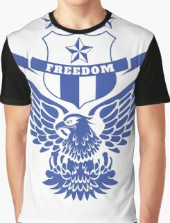 Freedom Crest -Blue Graphic T-Shirt