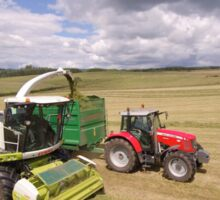 Forage Harvester at Barnglies Sticker