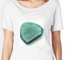 Cutout of a Green Quartz gemstone on white background Women's Relaxed Fit T-Shirt