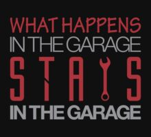 What happens in the garage Stays in the garage (3) by PlanDesigner