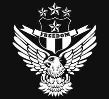Freedom Crest -White One Piece - Short Sleeve