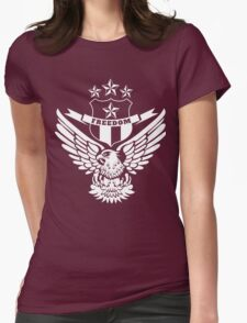 Freedom Crest -White Womens Fitted T-Shirt