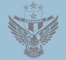 Freedom Crest -Grey Baby Tee