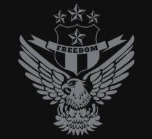 Freedom Crest -Grey One Piece - Short Sleeve