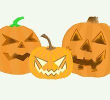Three Pumpkins by slaterkerry
