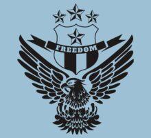 Freedom Crest -Black One Piece - Short Sleeve