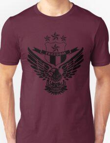 Freedom Crest -Black Unisex T-Shirt