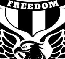 Freedom Crest -Black Sticker