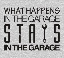 What happens in the garage Stays in the garage (4) by PlanDesigner