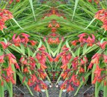 Red Lily Mirror Photo Sticker