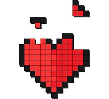 Tetris Heart Photographic Print