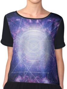 Abstract colossal space Sign! Chiffon Top