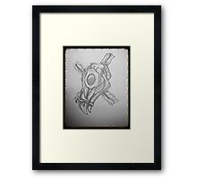 Breakfast skull 1 Framed Print